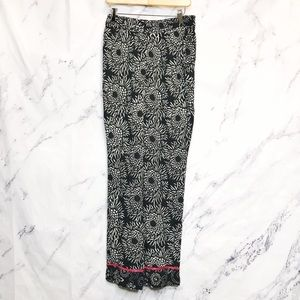 Soft Surroundings Floral Relaxed Palazzo Pants